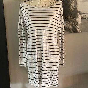 LA Made tunic/dress white striped size medium